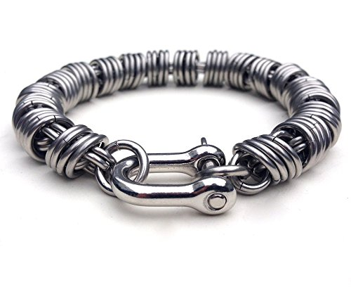 Men's Stainless Steel Coil Bracelet by San Filippo Leather