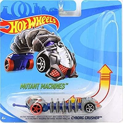 Hot Wheels Mutant Machines Vehicle - Cyborg Crusher l Unique Slithering Action Car: Toys & Games