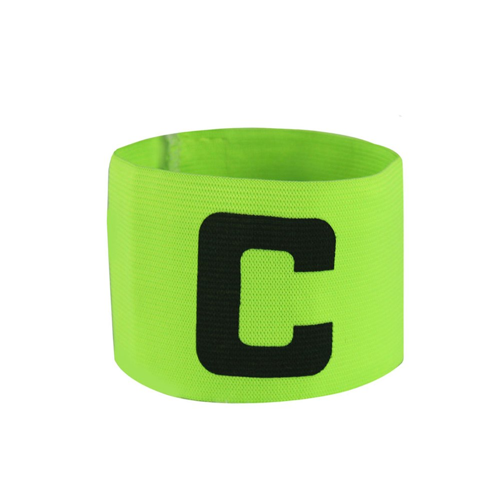GOGO Soccer Football Captain Armband/Wristband Wholesale Lot, with C Print-NeonGreen-2pcs