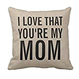 Winhurn Fashion Throw Pillow Case with Print Words for Sofa Home Decor