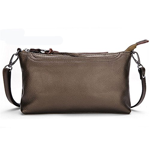 Cinnamon Leather Handbags (Daiwenwo Women Leather Handbags Small Messenger Bags Cowhide Ladies Crossbody Shoulder Clutch Bags (No9 Cinnamon J01))