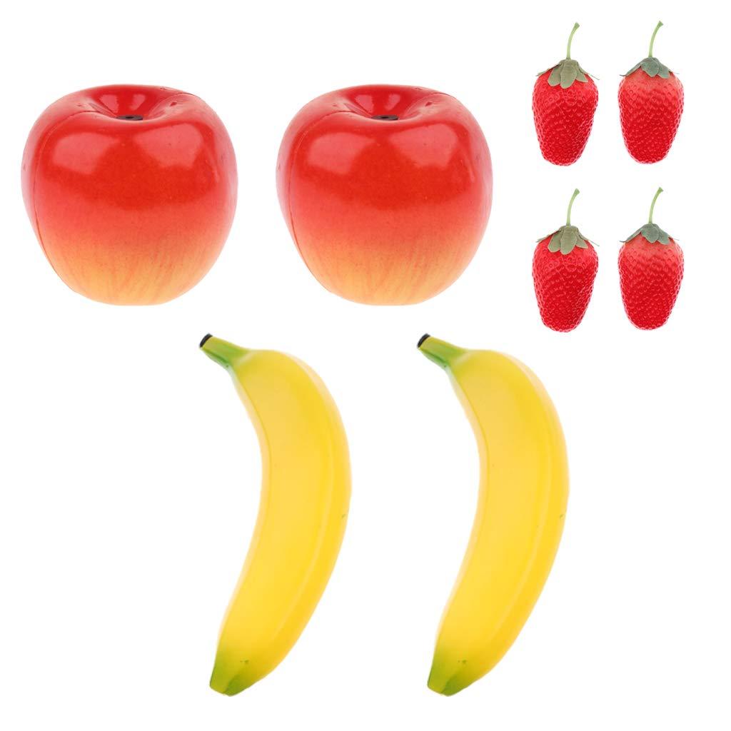 Homyl 8pcs Assorted Fruit Shaker Musical Maraca Rattles for Kids Baby Toys Strawberry/Banana/apple-Shaped by non-brand