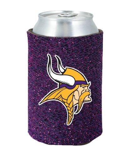 Minnesota Vikings Glitter Kolder Kaddy Can - Hat Nfl Beer