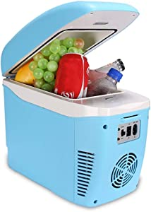 QKa 7.5L Car Refrigerator, Electric Cooler and Warmer, Heating Box, Outdoor Refrigerator for Cars, Road Trips, Homes, Offices and Dorms