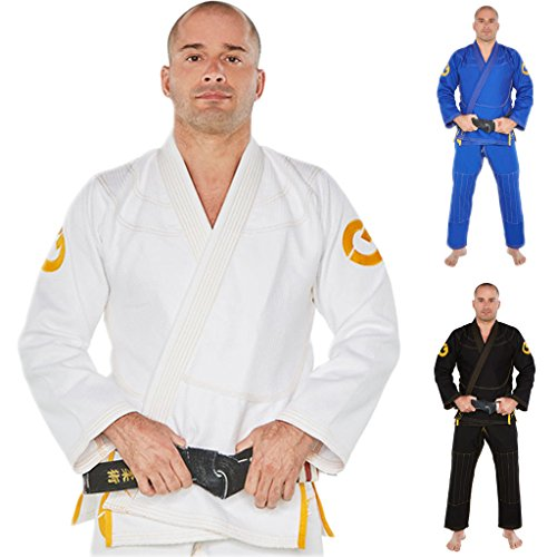 Gold BJJ Jiu Jitsu Gi – Ultra Strong Gold Weave Premium Kimono – IBJJF Competition Approved Uniform – DiZiSports Store