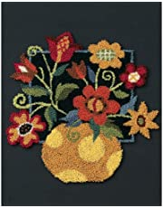 Dimensions Needlecrafts Punch Needle, Floral on Black