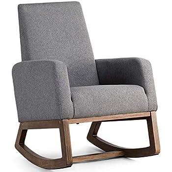 Amazon Com Giantex Upholstered Rocking Chair Modern High