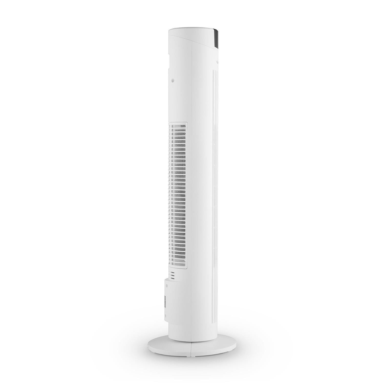 schwarz Klarstein Skyscraper 2G Standventilator Turmventilator S/äulenventilator mit Fernbedienung, leise, Timer, 3 Geschwindigkeiten, Oszillation, Staubfilter, Turmdesign