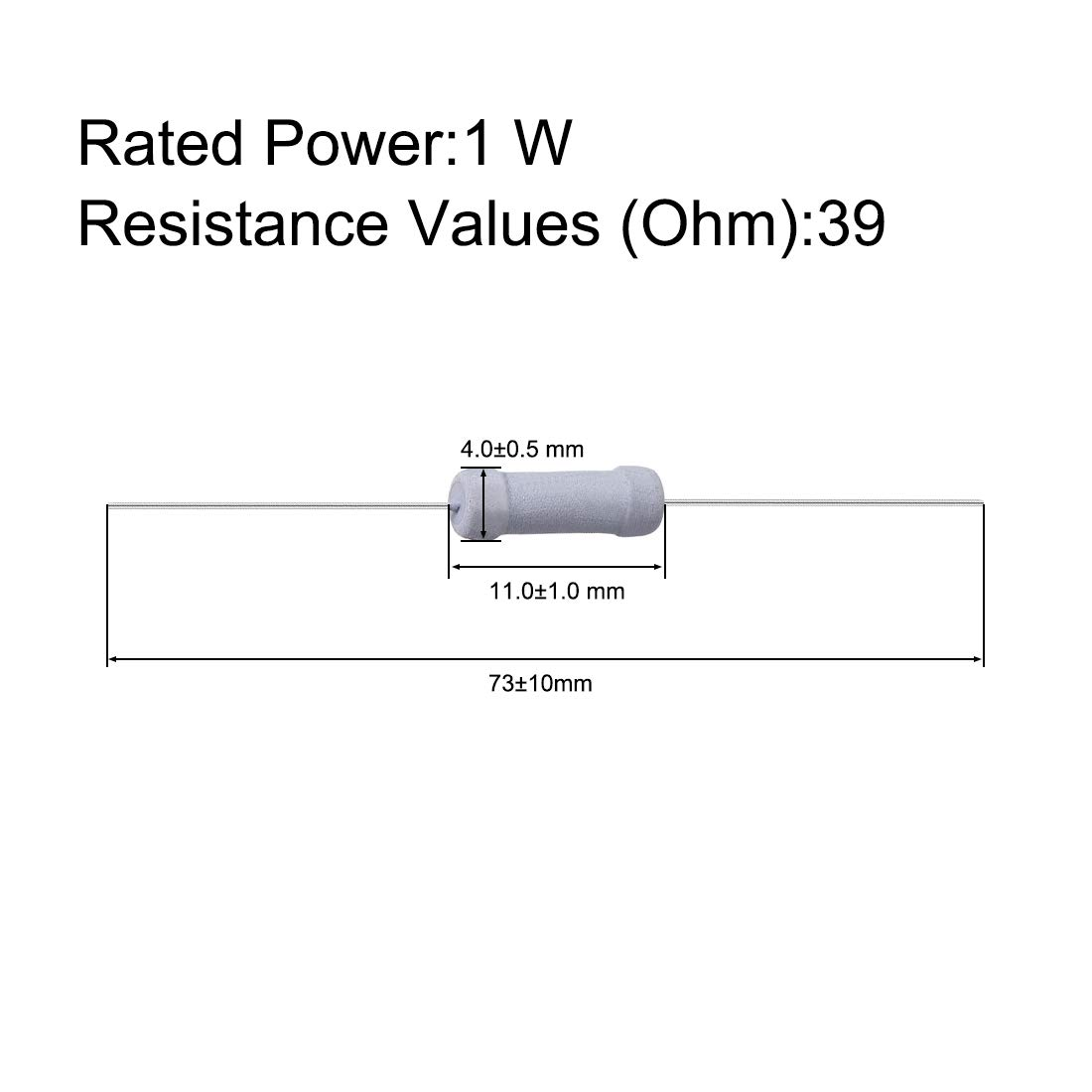 39 Ohm Resistance for DIY Electronic Projects and Experiments Axial Lead 1W uxcell 100 Pcs Metal Oxide Film Resistor 5/% Tolerance Flame Proof