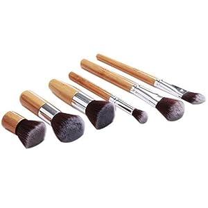 ShungHO Eco-friendly Bamboo Handle Synthetic Hair Makeup Brush Set Make-up Tool Kit 6PCS