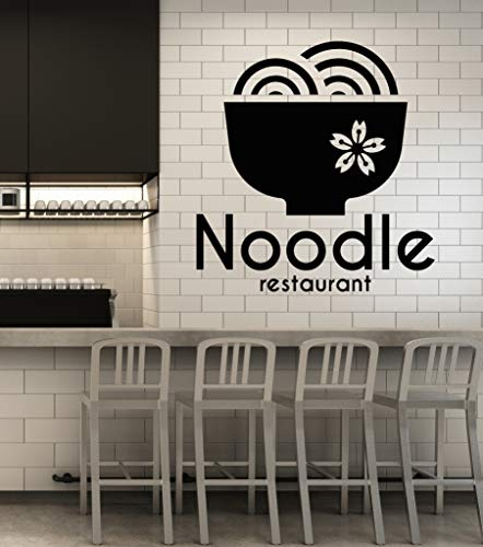 Vinyl Wall Decal Oriental Cuisine Noodle Restaurant Sushi Bar Asian Food Stickers Mural (g385) ()