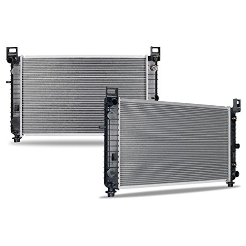 Mishimoto R2334-AT Cadillac Escalade 5.3L Replacement Radiator, 2002-2005, Silver (Cadillac Replacement Escalade Radiator)