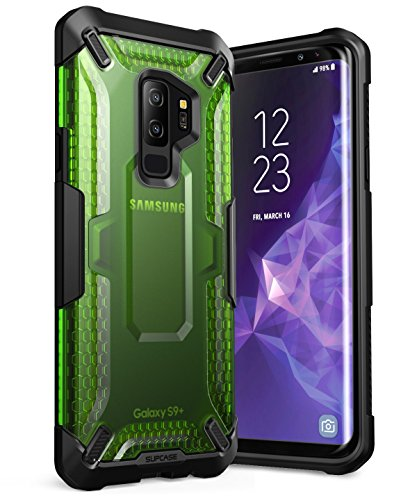 SUPCASE Galaxy S9+ Plus Case, Unicorn Beetle Series Premium Hybrid Protective Clear Case for Samsung Galaxy S9+ Plus 2018 Release, Retail Package (Frost/Green)