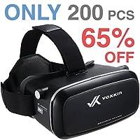 """Gafas 3D Reality Headset 3D VR de Voxkin - Lente óptica de alta definición, correa completamente ajustable, distancia focal y de objeto - Auriculares VR perfectos para iPhone, Samsung y cualquier teléfono de 3.5 """"a 6"""""""