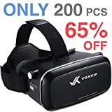 Virtual Reality Headset 3D VR Glasses by Voxkin – High Definition Optical Lens, Fully Adjustable Strap, Focal and Object Distance – Perfect VR Headset for iPhone, Samsung and any Phones 3.5'' to 6''