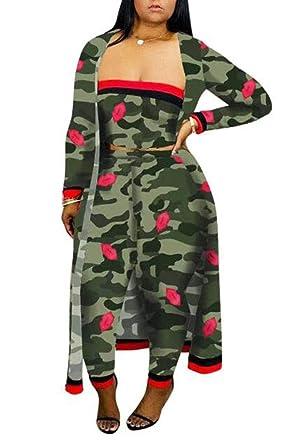 Chándal con Estampado de Camuflaje para Mujer Camo Leopard ...