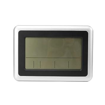 fgyhty LCD Digital de Pared Grande del termómetro del Reloj del Calendario de Escritorio Medidor de