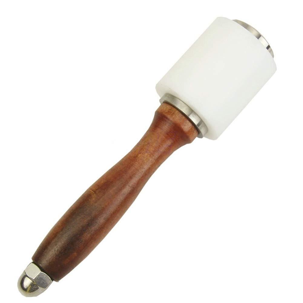Klinkamz - Martillo de nailon para tallar (piel sinté tica, con mango de madera)