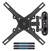 Mounting Dream MD2463-L TV Monitor Wall Mount Bracket with Full Motion Articulating Arm for most 26-39 Inches LED, LCD and Plasma TVs up to VESA 200x200mm and 33 LBS, with Rotation, Tilt, Swivel