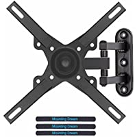 Mounting Dream MD2463-L TV Wall Mount Monitor Bracket with Full Motion Articulating Arm for most 26-39 Inches LED, LCD TVs up to VESA 200x200mm and 33 LBS, with Tilt and Swivel
