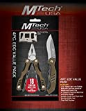 M Tech USA Limited Edition 4 PC EDC Value Gift Knife Set Multi-Tool Hunting Camping Outdoors Limited Edition Holiday Gift 2016