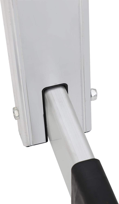 soges Klappleiter Aluminiumleiter Mehrzweckleiter Leiter Alu Haushaltsleiter 3,7 M,T/ÜV Rheinland GS-Zertifikat,Max.Belastbarkeit bis zu 150 KG