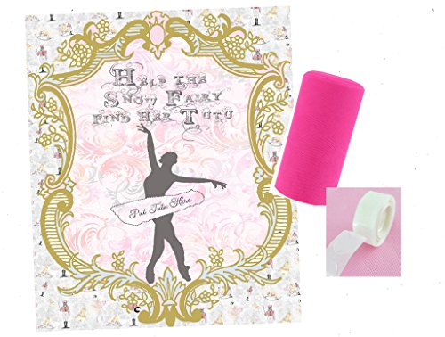 [Nutcracker Themed Party Supply and Decorations (Pin the Tutu Snow Fairy Game)] (Sugar Plum Fairy Costume Ballet)