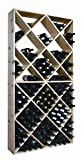Wine Cellar Innovations Rustic Pine Solid Diamond Bin Wine Rack for 208 Wine Bottles, Unstained
