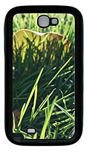 Samsung Note 2 Case Nature Grass Green TPU Custom Samsung Note 2 Case Cover Black