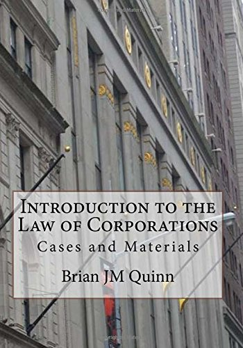 Download Introduction to the Law of Corporations: Cases and Materials PDF