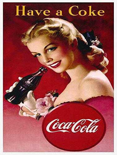 WINDST Personalised Have A Coke 11.8 X 7.9 in Vintage Metal Tin Sign Plaque Wall Art Poster Decoration