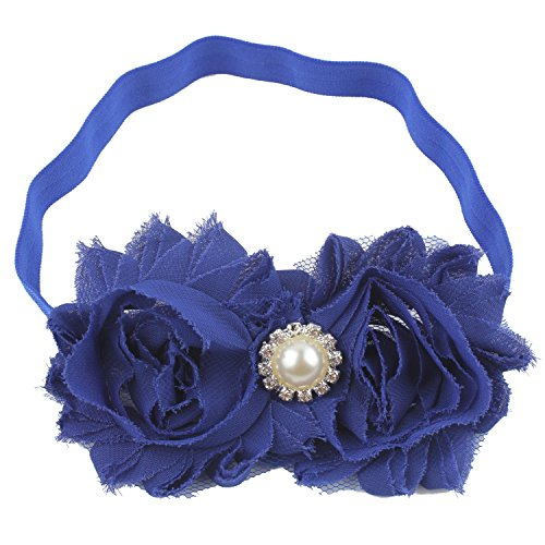 Miugle Baby Girls Headbands with Bows (royal blue) ()