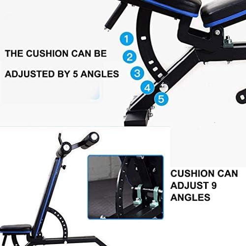 USTHOY アジャスタブルベンチ商業ウェイトベンチトレーニング機器アジャスタブル腹部トレーニング機器多機能インチョン/辞退ワークアウト腰のトレーニング (Color : Black, Size : 170x69x121cm)