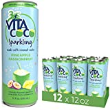 Vita Coco Sparkling Coconut Water, Pineapple Passionfruit - Low Calorie Naturally Hydrating Electrolyte Drink - Smart Alternative to Juice, Soda, and Seltzer - Gluten Free - 12 Ounce (Pack of 12)