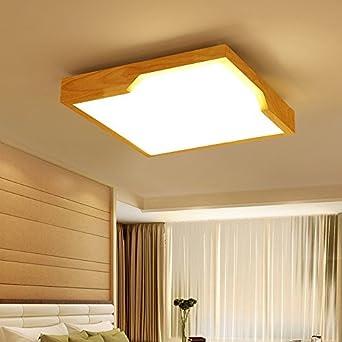 GQLB Einfache Holz Nordic Beleuchtung Holz Licht 24W creative ...