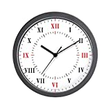 CafePress – Roman Numerals and Lines Wall Clock – Unique Decorative 10″ Wall Clock For Sale
