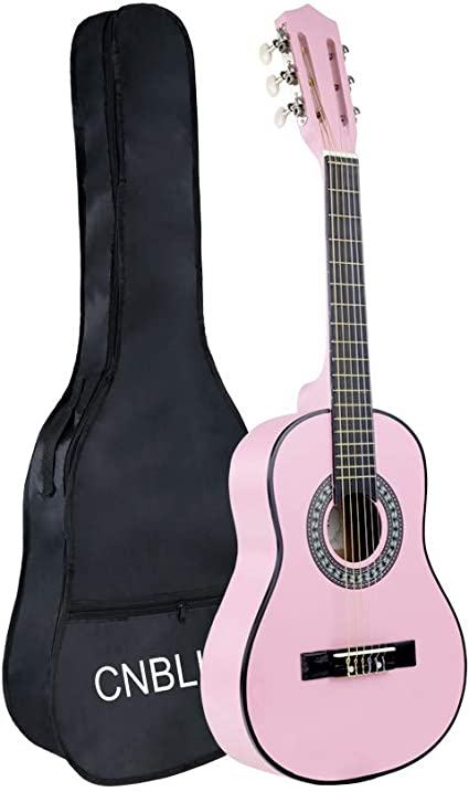 """Size 1//4 Natural Pink Acoustic Guitar 30/"""" Girls Kids Toy Gift Musical Instrument"""