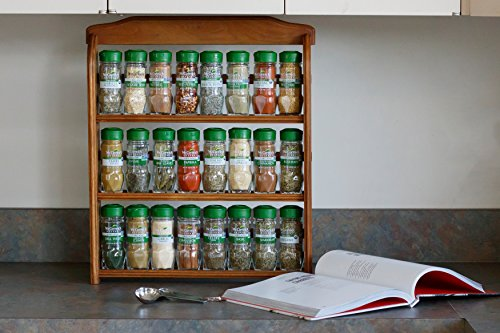 McCormick Gourmet Organic Wood Spice Rack (with Spices Included), 3 Spice Rack Shelves, 24 Herbs & Spices by McCormick (Image #4)