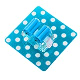 Broom Mop Holder Self Adhesive Mop and Broom Holder Wall Mounted Mop Organizer Holder Brush Broom Hanger Mop Racks Universal Kitchen Storage Tool 1PC (Blue)