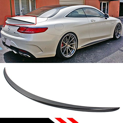 Cuztom Tuning Fits for 2015-2019 Mercedes Benz S550 S63 S65 2 Door Coupe VIP Premium Carbon Fiber Trunk Spoiler Wing
