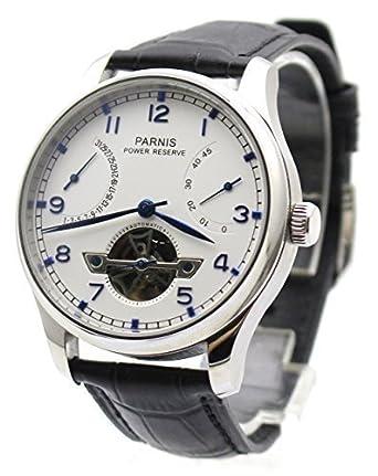 Amazoncom Parnis Mens Automatic Watch Flywheel Energy Display