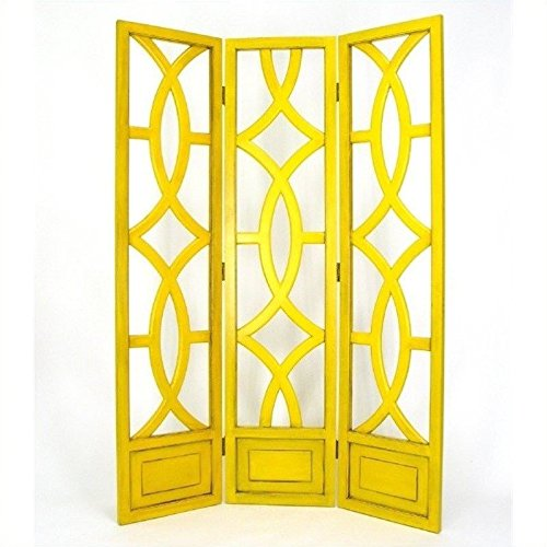 Charleston 3 Panel Room Divider in Yellow