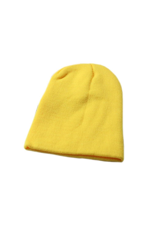Wolleschutzkappe - TOOGOO (R) Winter Beanie Knit Warme Ski Kappe Wolle Strickmuetze (gelb)