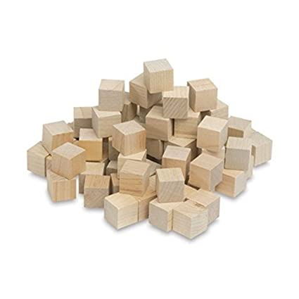 Wooden Cubes 34 Inch Wood Square Blocks For Math Puzzle Making Crafts Diy Projects 34 By Craftparts Direct Bag Of 100