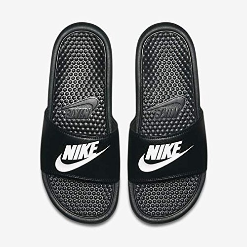 Nike Mens Benassi JDI Slide Sandal (Black/Black) (10 D(M) US, Black White)