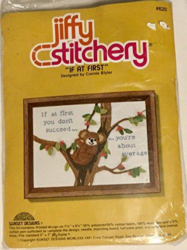 Jiffy Stitchery Crewel Embroidery Kit #620,