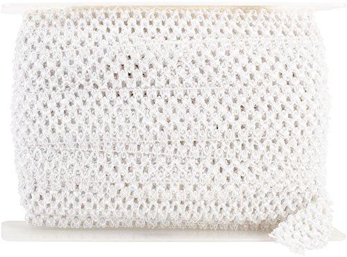 (Expo IR7005-WH 20-Yard Crochet Headband Stretch Trim, 1-3/4-Inch, White)