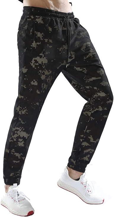 Logobeing Pantalones de Camuflaje Chandal Algodon Hombre Casual Chino Jogging Pantalones de Pantalón Casual de Trabajo Deportivo Casual con Bolsillo(M, Café): Amazon.es: Ropa y accesorios