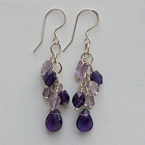 Amethyst Drop Earrings -