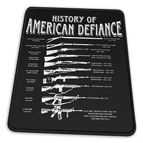 Mouse Pad Gadsden and Culpeper History of American Defiance Mouse Mat Gaming Non-Slip Rubber, Waterproof Mousepad with Stitched Edges
